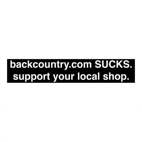 Backcountry.com Sucks Sticker