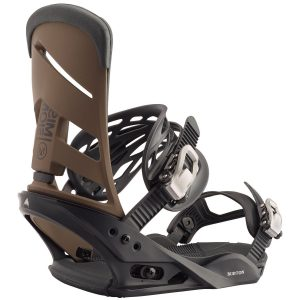 BURTON Men's Mission Re:Flex Snowboard Binding - 2020, Black/Mocha