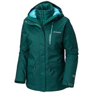 COLUMBIA Women's Emerald Lake Interchange Jacket, Dark Ivy Geyser 1