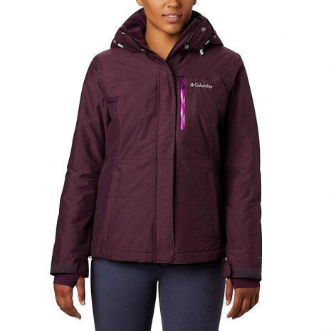 COLUMBIA Women's Alpine Action Omni-Heat Jacket, Black Cherry 1