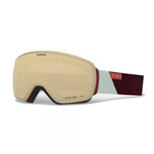 GIRO Women's Eave Snow Goggle, Scarlet Grey Peak 1