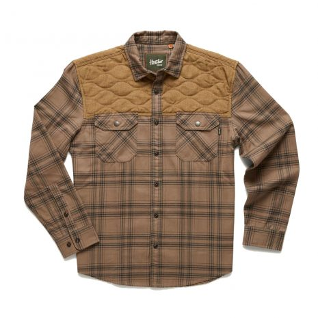 HOWLER BROS. Men's Quintana Quilted Flannel - Taupe British Khaki