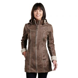 KUHL Women's Dani Sherpa Trench, Oak 1