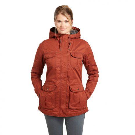KUHL Women's Fleece Lined Luna Jacket, Cayenne