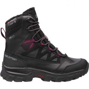 SALOMON Women's Chalten TS CS WP Winter/Snow Boot, Black Potent Purple 1