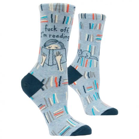 BLUE Q Women's Fuck Off I'm Reading Crew Socks