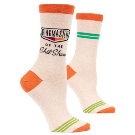 Blue Q Women's Ringmaster of the Shit Show Crew Socks
