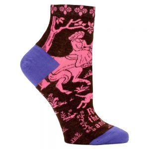 BLUE Q Women's Runnin' the World and Stuff Ankle Socks