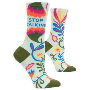 BLUE Q Women's Stop Talking Crew Socks