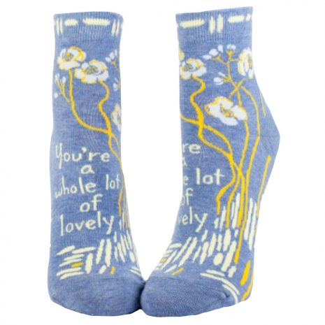 BLUE Q Women's You're A Whole Lotta Lovely Ankle Socks