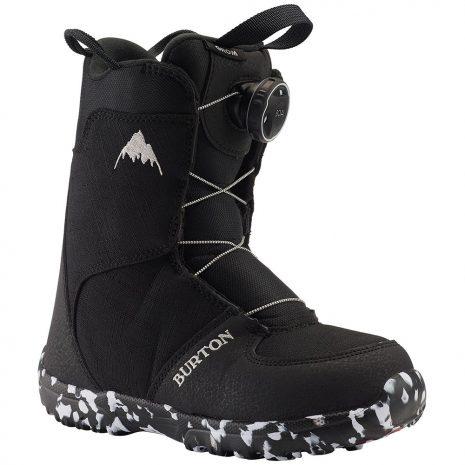 BURTON Kid's Grom Boa Snowboard Boot - 2020, Black
