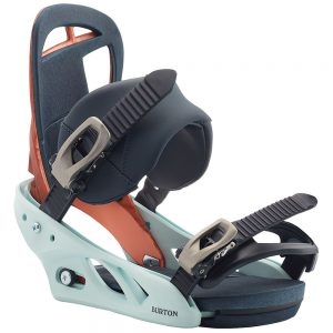 BURTON Women's Scribe Re:Flex Snowboard Binding – 2020, Wood Grain Jane