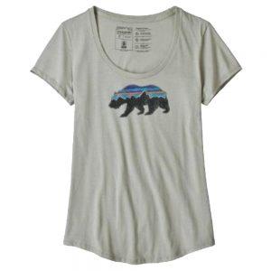 PATAGONIA Women's Fitz Roy Bear Organic Cotton Scoop Neck T-Shirt, Desert Sage