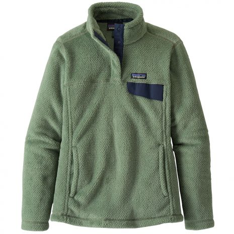 PATAGONIA Women's Re-tool Snap-T Pullover Fleece, Ellwood Green Gypsum Green Crossdye