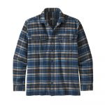 Patagonia Men's Long-Sleeved Fjord Flannel Shirt - Independence New Navy