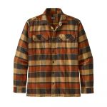 Patagonia Men's Long-Sleeved Fjord Flannel Shirt - Plots Burnished Red