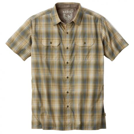 KUHL Men's Response Short-Sleeved Shirt, Aloe Leaf