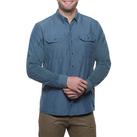 KUHL Men's Airspeed Long-Sleeved Shirt, Pirate Blue