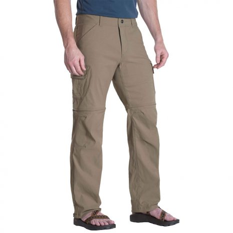 KUHL Men's Renegade Cargo Convertible Pants, Buckskin Khaki