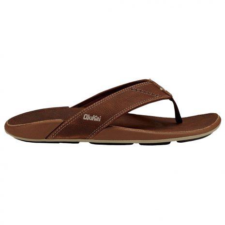 OLUKAI Men's Nui Sandals, Rum