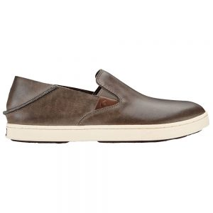 OLUKAI Women's Pehuea Leather Slip-On Shoes, Espresso