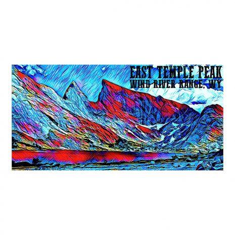 Artist Series East Temple Peak Poster