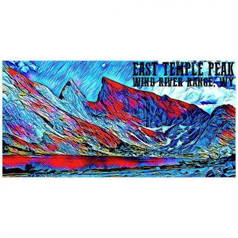 Artist Series East Temple Peak Sticker