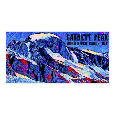 Artist Series Gannett Peak Poster