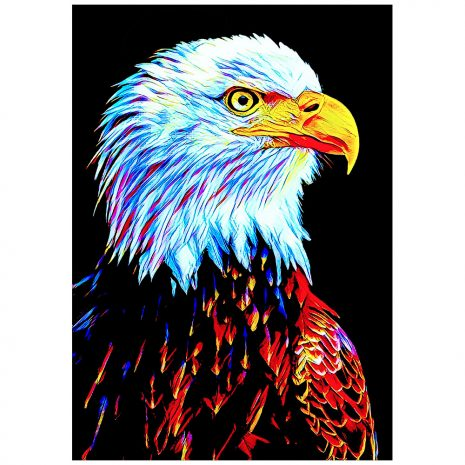 Artist Series Bald Eagle Sticker