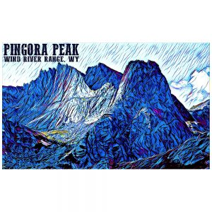Artist Series Pingora Peak Sticker