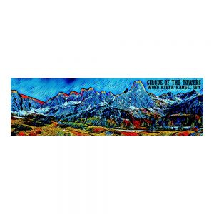 Artist Series Cirque of the Towers Bumper Sticker