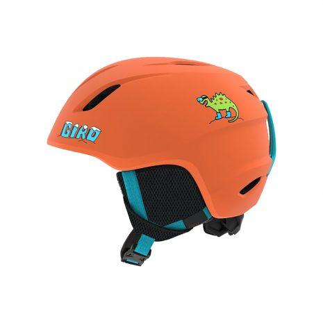 Giro Kid's Launch Helmet Deep Orange Dinosnow