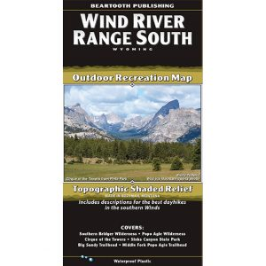 Beartooth Publishing South Wind River Range Map