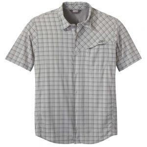 OUTDOOR RESEARCH Men's Astroman Short-Sleeved Sun Shirt, Light Pewter