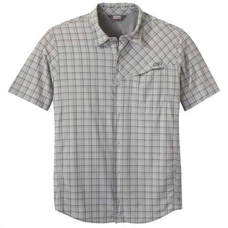 OUTDOOR RESEARCH Men's Astroman Short-Sleeved Sun Shirt, Light Pewter