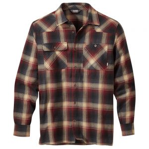 OUTDOOR RESEARCH Men's Feedback Flannel Shirt, Madder Plaid