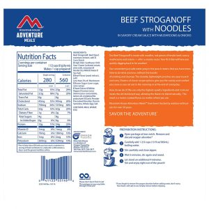 MOUNTAIN HOUSE Beef Stroganoff Freeze-Dried Meal
