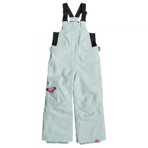 ROXY Girls' Lola Bib Insulated Snow Pants, Harbor Gray