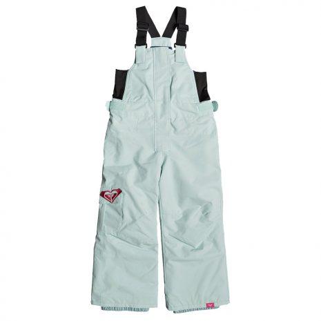 ROXY Girls' Lola Bib Insulated Snow Pants, Harbor Gray