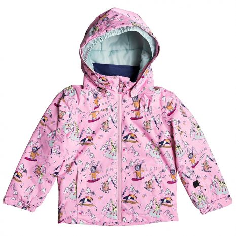 ROXY Girls' Mini Jetty Insulated Jacket, Prism Pink Snow Trip