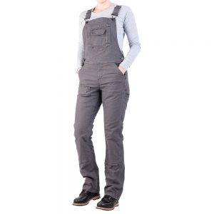 DOVETAIL WORKWEAR Women's Freshley Overalls, Gray Stretch Canvas