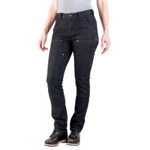 DOVETAIL WORKWEAR Women's Maven Slim Pants, Black Stretch Denim