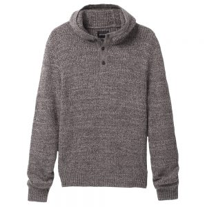 PRANA Men's Carter Hooded Sweater, Charcoal