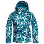 ROXY Girls' Jetty Girl Insulated Jacket, Ocean Depths Leopold