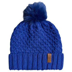 ROXY Women's Blizzard Beanie, Bronze Green, Mazarine Blue