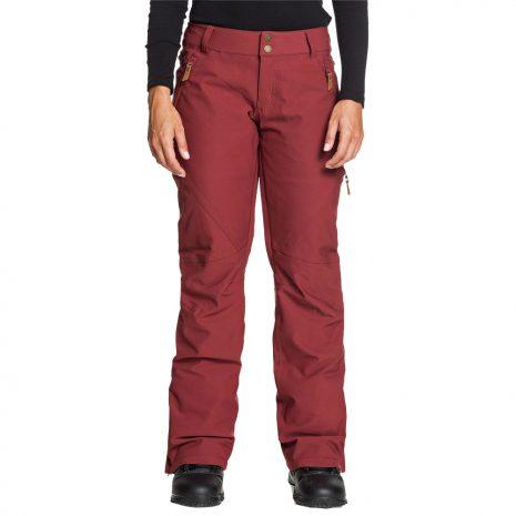 ROXY Women's Cabin Shell Snow Pants, Oxblood Red