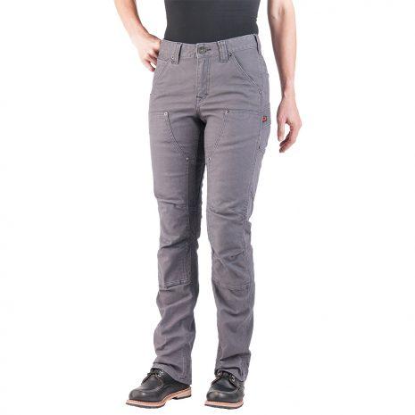 DOVETAIL WORKWEAR Women's Britt Utility Pants, Stretch Gray Canvas