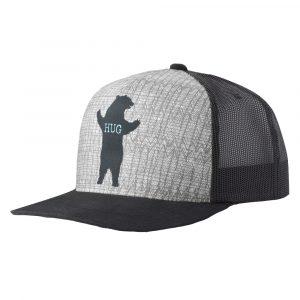 PRANA Journeyman Trucker Hat, Charcoal Bear Hug