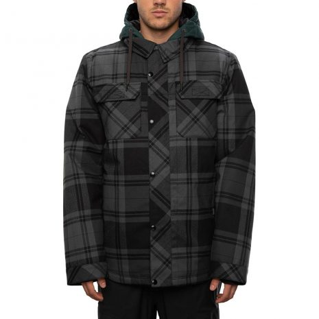 686 Men's Woodland Insulated Jacket - Dark Spruce Plaid