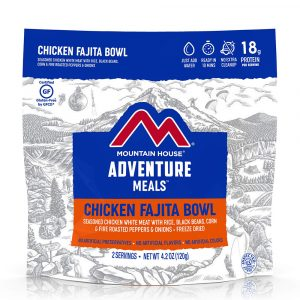 MOUNTAIN HOUSE Chicken Fajita Bowl with Rice and Vegetables Freeze-Dried Meal